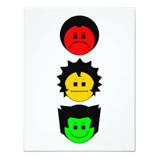 Moody Stoplight Trio Vertical Faces Personalized Announcements