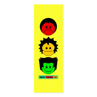 Moody Stoplight Trio Vertical Faces w Lbl BOOKMARK Business Cards