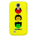 Moody Stoplight Trio Vertical Faces with Label Samsung Galaxy S4 Covers
