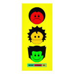 Moody Stoplight Trio Vertical Faces with Label Full Color Rack Card