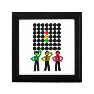 Moody Stoplight Trio w Moody Stoplight Black Dots Keepsake Box