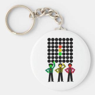 Moody Stoplight Trio w Moody Stoplight Black Dots Keychain