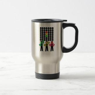 Moody Stoplight Trio w Moody Stoplight Black Dots Travel Mug