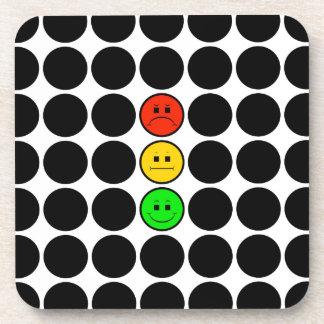 Moody Stoplight w Black Dots Drink Coaster