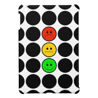 Moody Stoplight w Black Dots iPad Mini Cases
