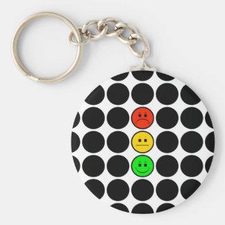 Moody Stoplight w Black Dots Keychain