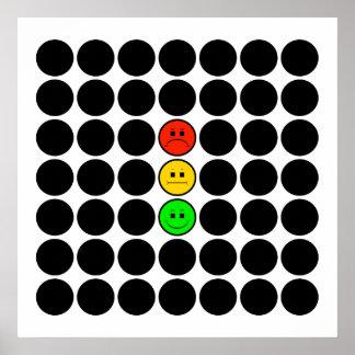 Moody Stoplight w Black Dots Poster