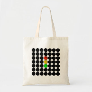 Moody Stoplight w Black Dots Tote Bag