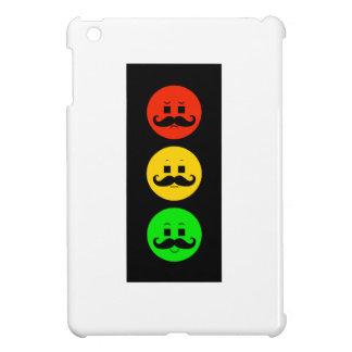 Moody Stoplight with Handlebar Mustaches iPad Mini Case