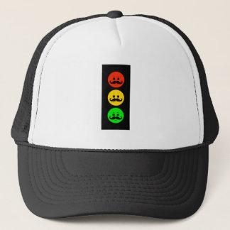 Moody Stoplight with Handlebar Mustaches Trucker Hat