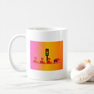Moody Stoplight with Heart Caravan, Dreamy Backgnd Coffee Mug