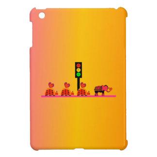 Moody Stoplight with Heart Caravan, Dreamy Backgnd iPad Mini Covers