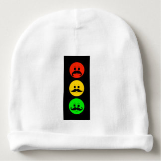 Moody Stoplight with Mustachios Baby Beanie