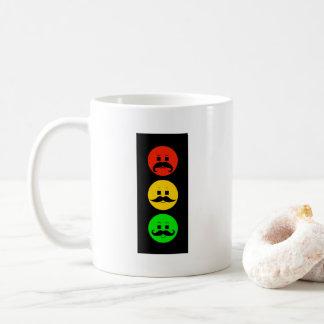 Moody Stoplight with Mustachios Coffee Mug