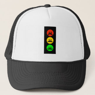 Moody Stoplight with Mustachios Trucker Hat