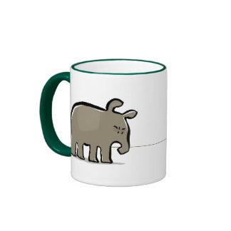 moody tapirs ringer coffee mug