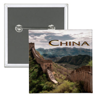 Moody View of The Great Wall of China Pin