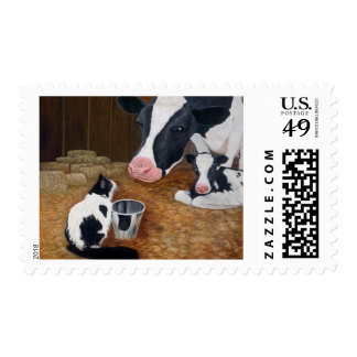 Mooeow Postage Stamp