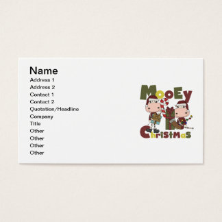 Mooey Christmas Business Card