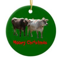 Mooey Christmas Ceramic Ornament