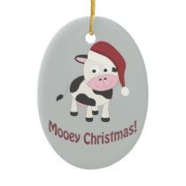 Mooey Christmas! Ceramic Ornament