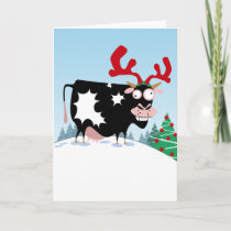 Mooey Christmas Cow Holiday Card