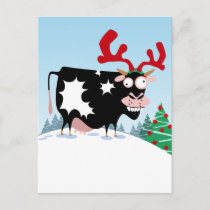 Mooey Christmas Cow Holiday Postcard