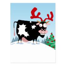 Mooey Christmas Cow Postcard