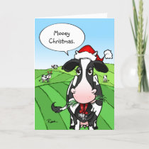 Mooey Christmas Funny Cow Holiday Cards