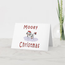 Mooey Christmas Holiday Card