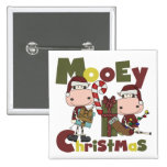 Mooey Christmas Pinback Buttons