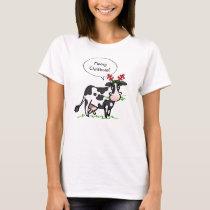 Mooey Christmas Shirt   Funny Cow Tshirts
