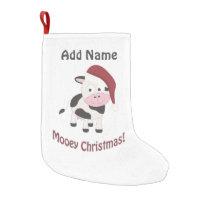 Mooey Christmas! Small Christmas Stocking