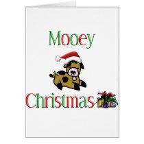Mooey Cow Christmas Card