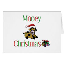 Mooey Cow Christmas Card