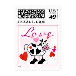 Mooey Love Valentine Postage Stamp