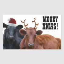Mooey Merry Christmas Cows Stickers
