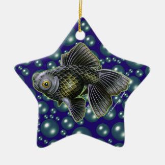 Moog el negro amarra el ornamento de la estrella adorno navideño de cerámica en forma de estrella