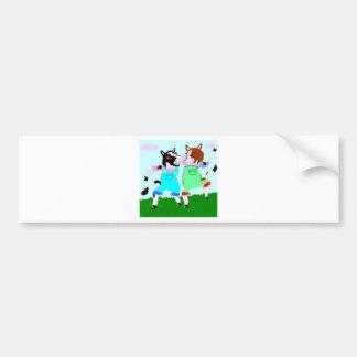 Moohug Designs With Cows Bumper Sticker