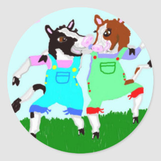 Moohug Designs With Cows Classic Round Sticker