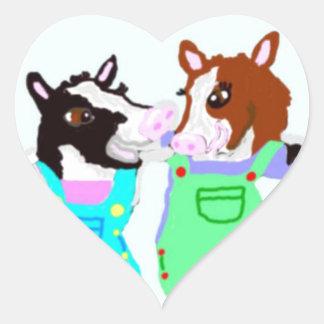 Moohug Designs With Cows Heart Sticker