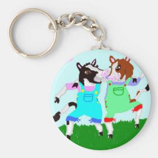 Moohug Designs With Cows Keychain