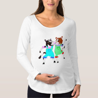 Moohug Designs With Cows Maternity T-Shirt