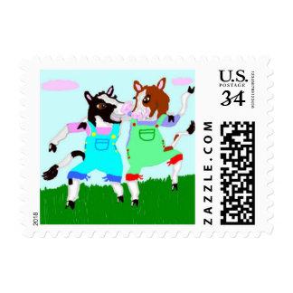 Moohug Designs With Cows Postage