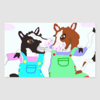 Moohug Designs With Cows Rectangular Sticker