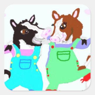 Moohug Designs With Cows Square Sticker