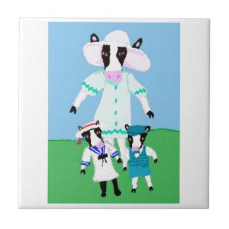 Moohug Designs With Mama Cow And Calves Tile