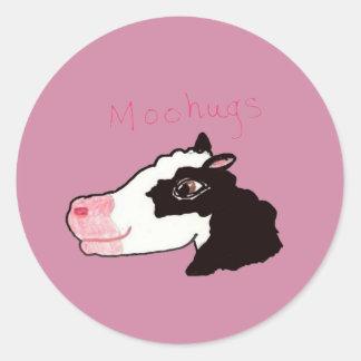 Moohugs Classic Round Sticker