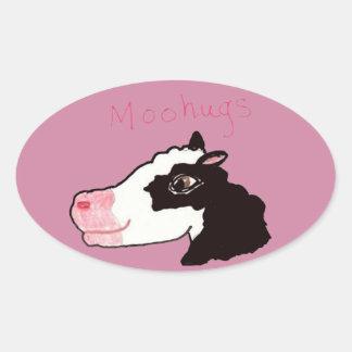 Moohugs Oval Sticker