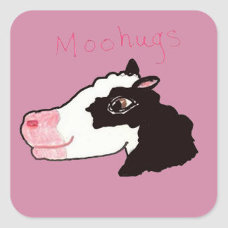 Moohugs Square Sticker